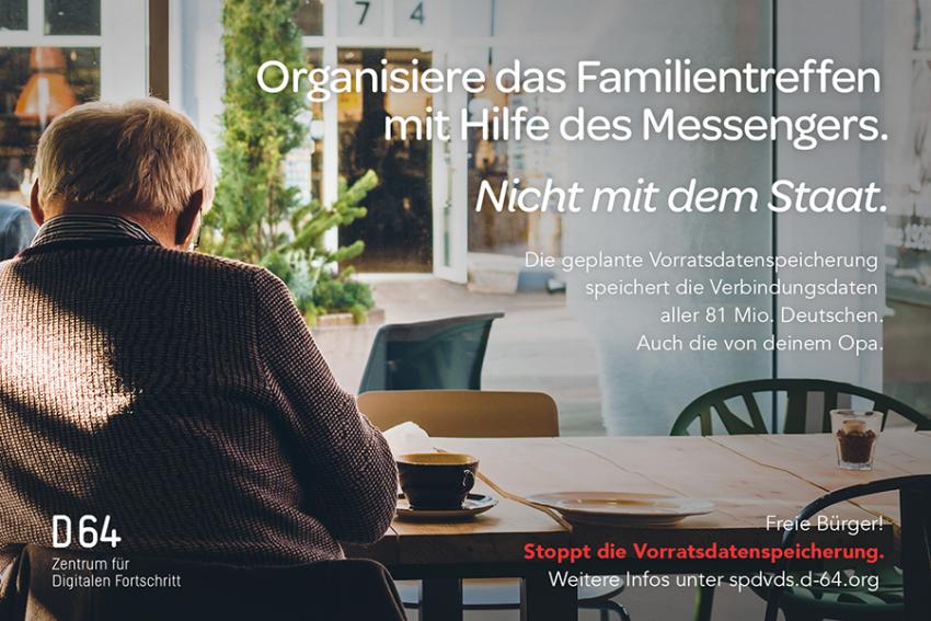Organisiere das Familientreffen mit dem Messenger. Nicht mit dem Staat.