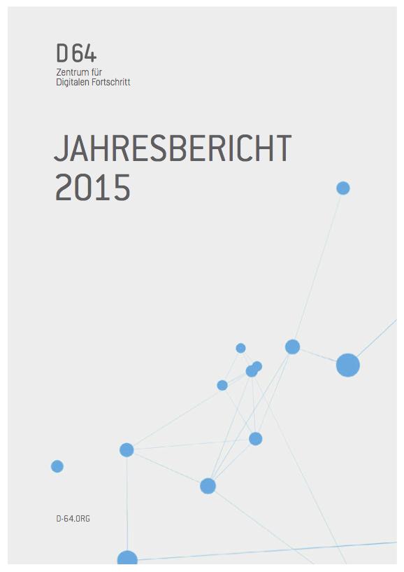 Cover des D64 Jahresberichts 2015