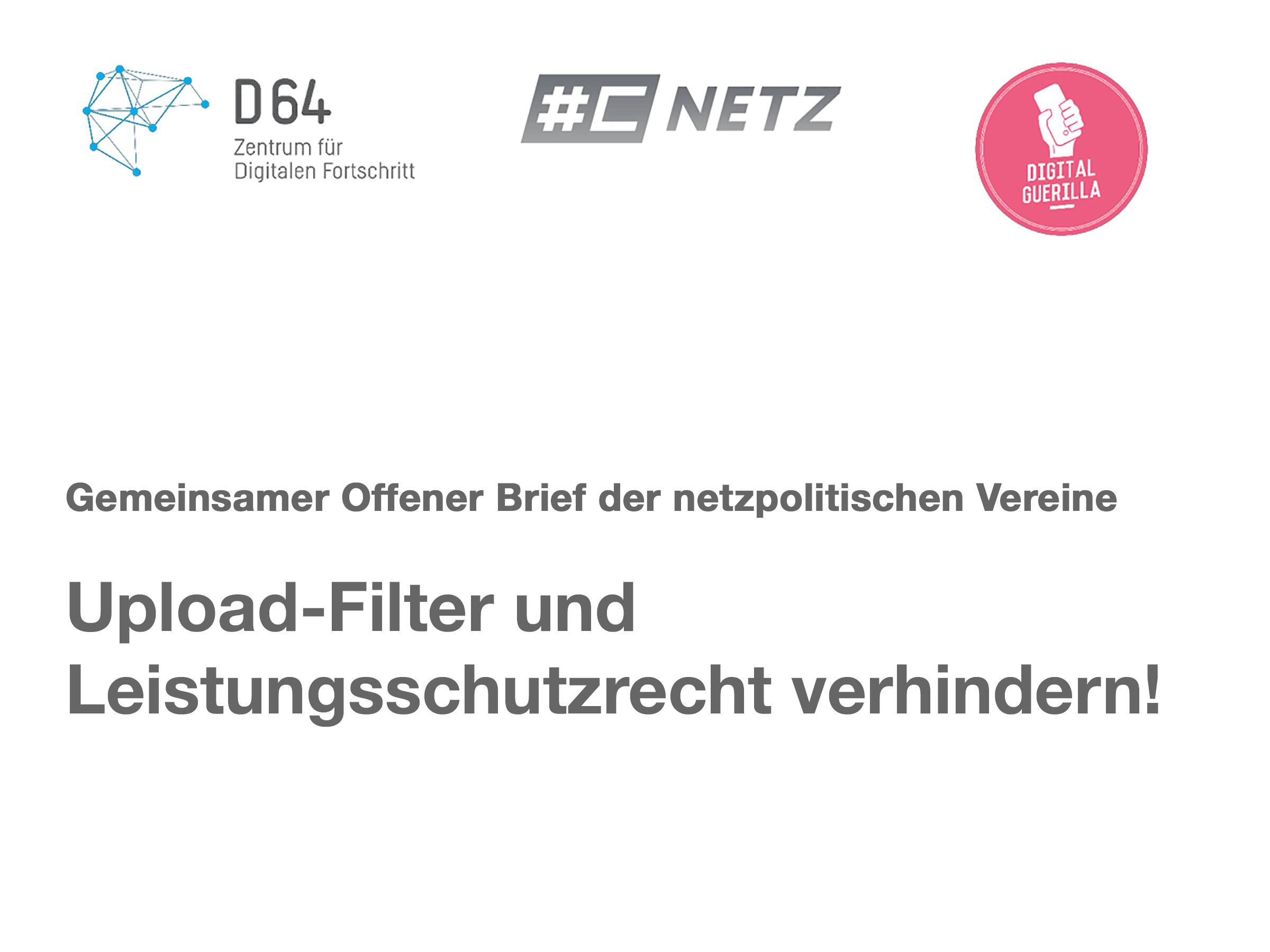 Offener Brief Digitalvereine Stemmen Sich Gegen Upload Filter Und